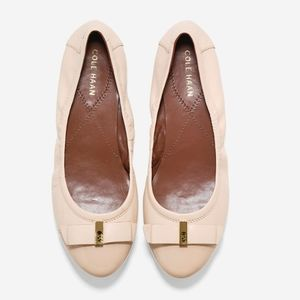 Cole Haan Elsie Bow Ballet Nude Flat 8.5B
